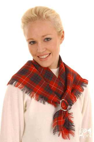 Spring Weight Square tartan Scarves