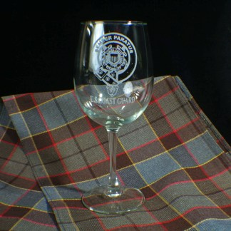 U.S. Coast Guard Wine Glass