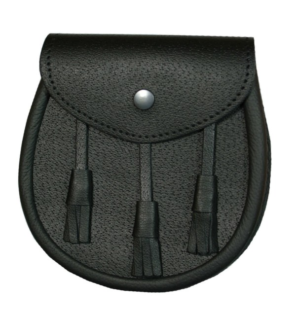 Basic Black Leather Sporran