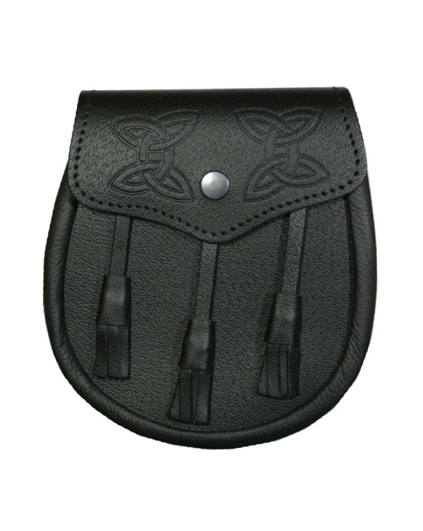 Celtic Knot Embossed Premium Leather Sporran