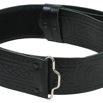 Quality Embossed Leather Kilt Belt