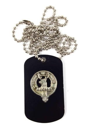 Forbes Clan Crest Dog Tag Necklace