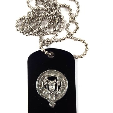 MacLeod Clan Crest Dog Tag Necklace