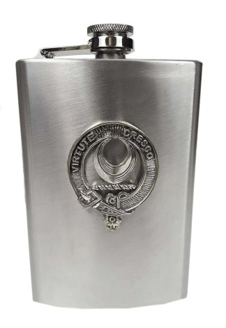 Leask Clan Crest Flask
