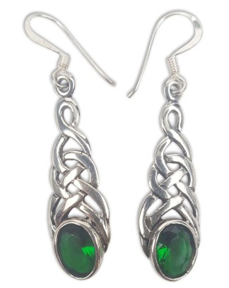 Celtic Knot Emerald Earrings