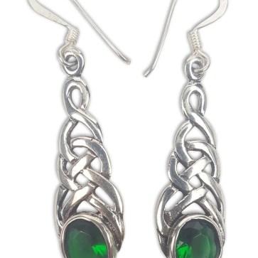 Celtic Knot Emerald Earrings