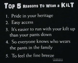 Top 5 Reasons to Wear a Kilt T-Shirt