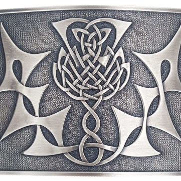 Highland Thistle Antiqued Kilt Belt Buckle