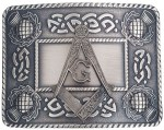 Masonic Antiqued Thistle Kilt Belt Buckle