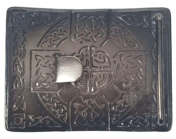 Antiqued Celtic Cross Kilt Belt Buckle