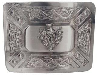 Antiqued Thistle Kilt Belt Buckle