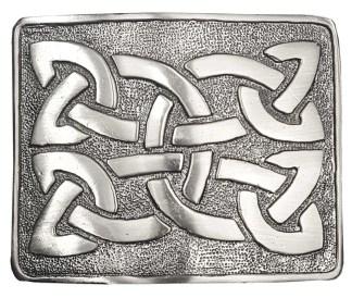 Celtic Weave Antiqued Kilt Belt Buckle