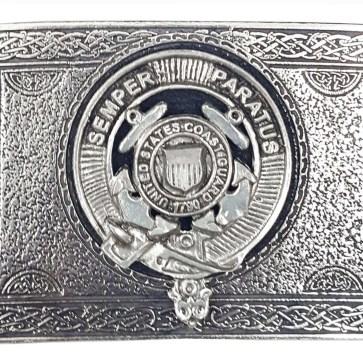 U.S. Coast Guard Pewter Kilt Belt Buckle