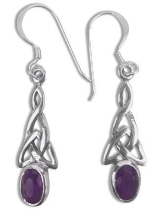 Amethyst Triskle Earrings