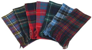 Scottish Tartan Light-Weight Lambswool Scarves
