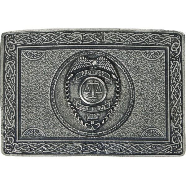 Protect and Serve Law Enforcement Belt Buckle