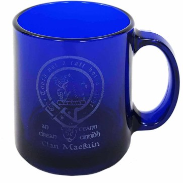 MacBain Clan Crest Engraved Coffee Mug