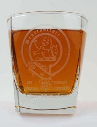 Nicholson Clan Crest Whisky Glass