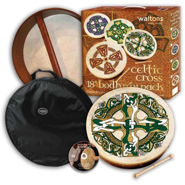 Waltons 18 Inch Celtic Cross Learn to Play Bodhran Kit