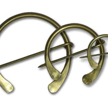 Plain Brass Penannular Brooches