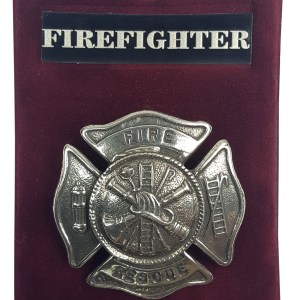 Fire Rescue Fire Fighter Cap Badge/Brooch