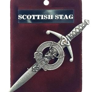 Scottish Stag Kilt Pin