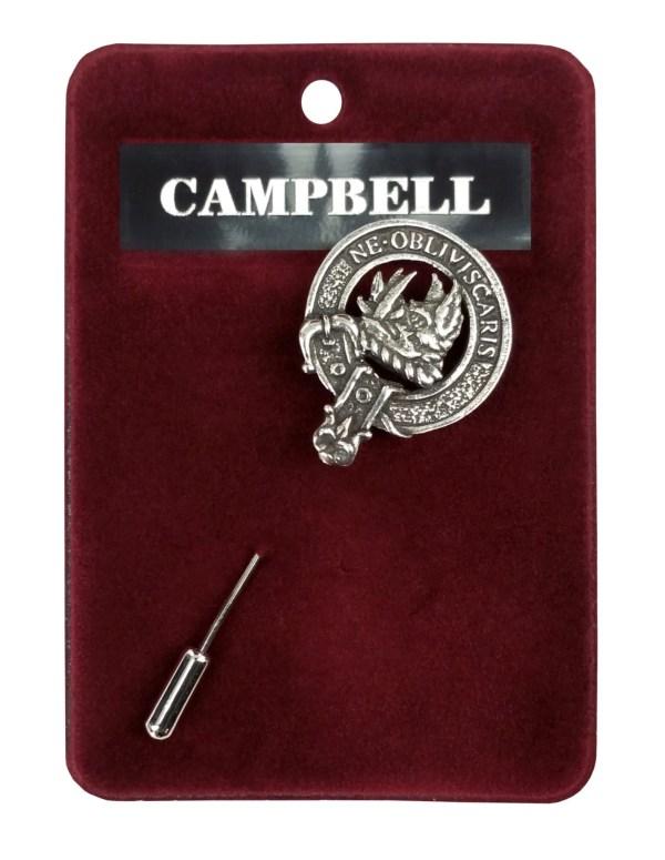 Clan Crest Pewter Lapel Pin