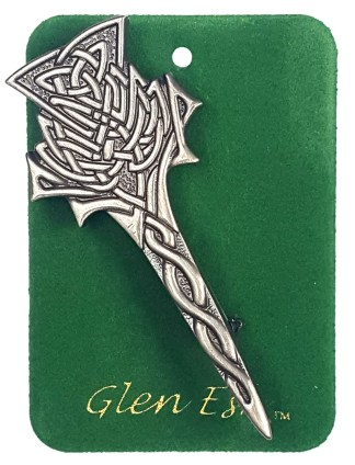 Antiqued Thistle Kilt Pin
