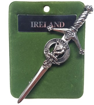 Art Pewter Ireland Kilt Pin