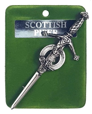 Art Pewter Scottish Piper Kilt Pin