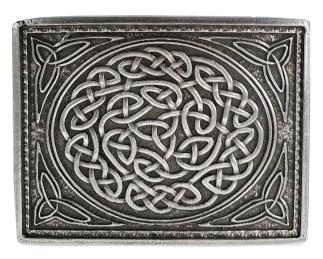 Celtic Knot Double Prong Belt Buckle