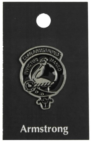 Clan Crest Pewter Mini Badges