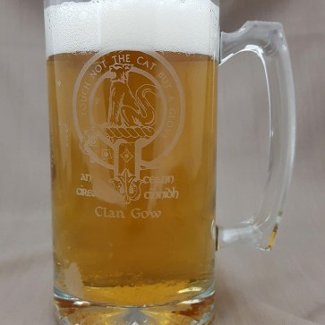 Gow Clan Crest 26 oz. Beer Mug