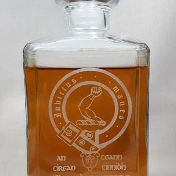 Armstrong Clan Crest Decanter