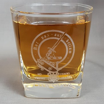 Gunn Clan Crest Whisky Glass