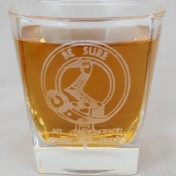 Paisley Clan Crest Whisky Glass