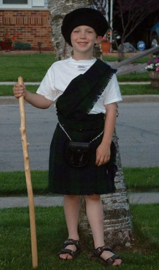 Large Ancient Kid Kilt