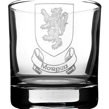 COA-CL-1752 Morgan Coat of Arms Whisky Glass