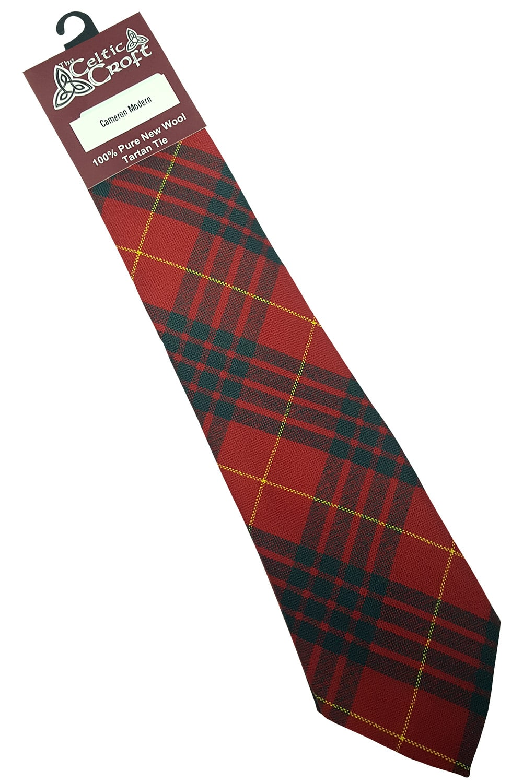 Mens Tie All Wool Made in Scotland MacKenzie Dress Modern Tartan