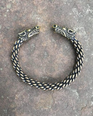 Celtic Dragon Torc Bracelet