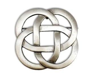 Eternity Knot Pewter Brooch