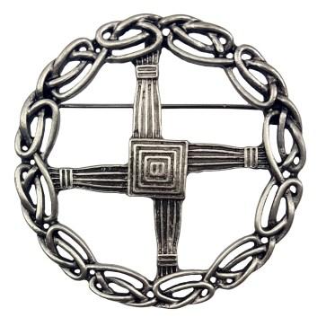 St Bridget's Cross Pewter Brooch