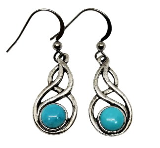 Celtic Knot Turqouise Earrings