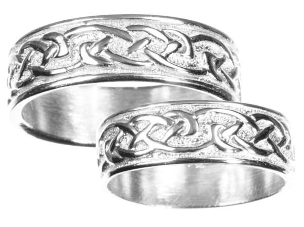 Mens Sterling Silver Celtic Wedding Band