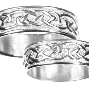 Mens Sterling Silver Celtic Wedding Band