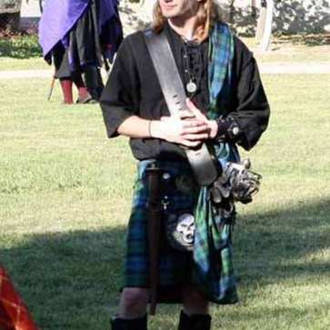 Homespun Wool Blend Irish Ancient Kilt