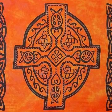 Celtic Sarong Orange Celtic Cross