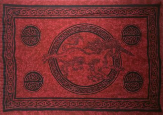 Red Unicorn Celtic Sarong