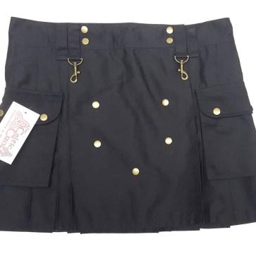 LKWIL-IS-1806 Ladies Wilderness Black Mini Kilt - 38W 17L