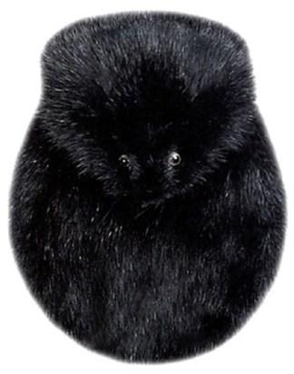 Full Mask Black Muskrat Sporran